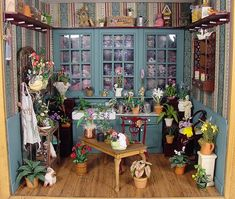 Flower Shop - beautiful use of cabinetry