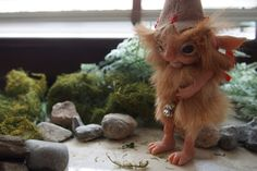 OOAK fantasy art doll woodland troll gnome GABRI by muyestillo.deviantart.com on @DeviantArt