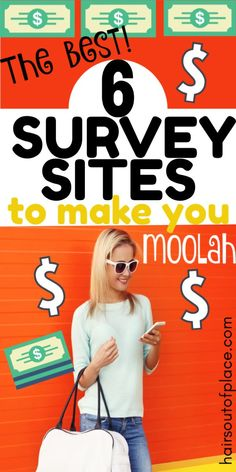 6 surveys for money sites that are high quality and pay you cash. Survey apps are an easy way to make extra money from home.