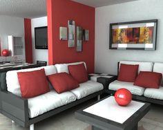 Idée déco salon en rouge - 30 photos sympas embellir espace