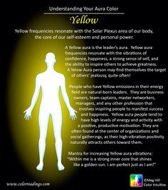 I still think it's amazing my family can see auras. The more I read about mine the more I think it's amazing :o 6 Chakra, Chakra Healing, Chakra Crystals, Chakra Symbols, Throat Chakra, Tantra, Auras, Aura Colors Meaning, Yellow Aura Meaning