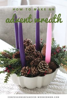 Nature Crafts Easy Advent Wreath Craft to Celebrate Christmas This Year Easy Adv. : Easy Advent Wreath Craft to Celebrate Christmas This Year Easy Advent Wreath Craft to Celebrate Christmas This Year Advent Wreath Candles, Christmas Advent Wreath, Christmas Candles, Christmas Crafts, Advent Wreaths, Christmas Decorations, Christmas Ideas, Reindeer Christmas, Christmas Stuff