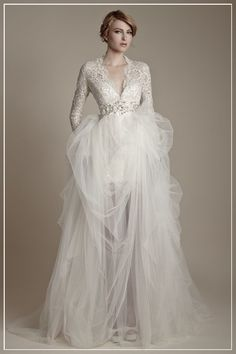 Gorgeous Wedding Dress with Lace Sleeves Wedding Dress