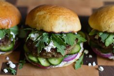 Amazing Mediterranean Lamb Burger recipe. Leaner alternative to the traditional recipe | Salt and Wind