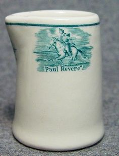 Paul Revere Hotel Restaurant Club Advertising Individual China Creamer Boston