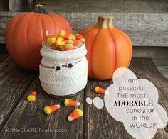 Mummy Mason Jar Luminaries - Cutest and Easiest Halloween Crafts Ever 3
