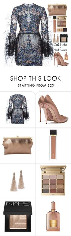 """🌌"" by fashioneex ❤ liked on Polyvore featuring Elie Saab, Ampere Creations, Jouer, Oscar de la Renta, Stila, NARS Cosmetics, Tom Ford and Laura Mercier"