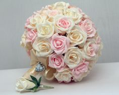 wedding bouquet paper wedding bouquet bridal by FlowerDecoration