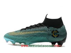 official photos 79f57 6d983 Chaussures de soccer à ongles FG NIKE Mercurial Superfly VI CR7 Elite FG  football pour terrain sec pour Or noir vert-1807170550-Chaussure de  Football ...