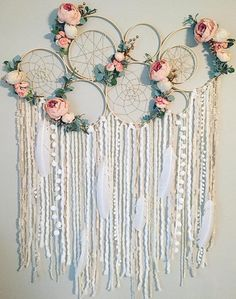 Dreamcatcher Wall Hanging Dreamcatcher Wall Decor They are done, our KEYCHAINS I think they have become really great . - genuine finished find have been I Large Dreamcatcher Wall Hanging Floral Dream catcher Nursery Grand Dream Catcher, Big Dream Catchers, Large Dream Catcher, Dream Catcher Nursery, Dream Catcher Mobile, Diy And Crafts, Arts And Crafts, Decor Crafts, Home Decor
