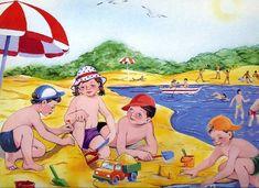praatplaat strand voor kleuters
