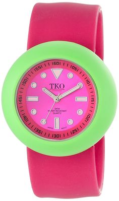 TKO ORLOGI Women's TK588-FGW Pink Rubber Slap Watch -- Be sure to check out this awesome product.