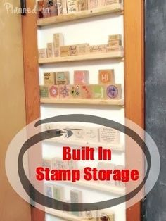 Turn a small piece of wall into built-in storage for small things like stamps!