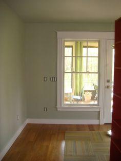 Mizzle wall colour, wooden floors and white trim - my living room scheme Farrow And Ball Paint, Farrow Ball, Wall Paint Colors, Interior Paint Colors, Country House Interior, Interior And Exterior, Edwardian House, Piece A Vivre, Bedroom Loft