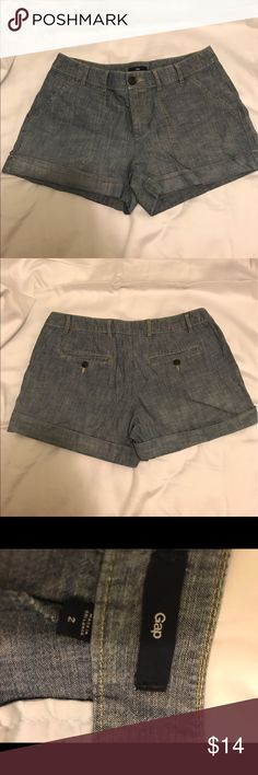 "Gap  shorts / lightweight material / jean color Gap  shorts / lightweight material / jean color  / size 2 / 3"" inseam GAP Shorts Jean Shorts"