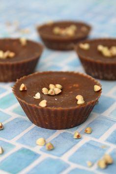 Raw carob crunch cups - vegan . Sugar free!