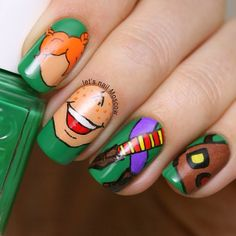 letsnailmoscow Pippi Longstocking #nail #nails #nailart