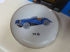 Vintage Lefton China MG Car Collector Plate