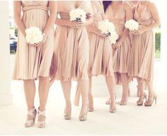 stunning nude coloured bridesmaids!