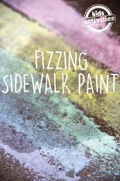 Sidewalk chalk is fun, painting is fun, making things fizz is also fun! Let's do all three and make fizzing sidewalk paint! Outdoor Summer Activities, Toddler Activities, Fun Activities, Outdoor Fun, Steam Activities, Easter Activities, Spring Activities, Outdoor Games, Educational Activities