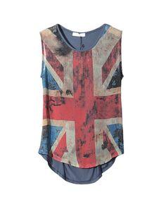 Chicnova Fade Britain Flag Print Vest/Celebration of London Olympics