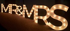MR&MRS Light Up Marquee Sign- ANY Six Letter Sign!