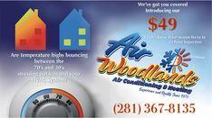 Air Woodlands A/C  Heating (281)367-8135