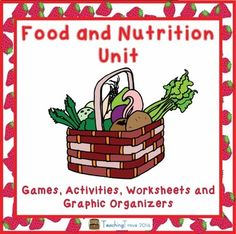 It's Food and Nutrition month!  This pack contains literacy games, activities, worksheets and graphic organizers to use with any food based fiction or non-fiction book.