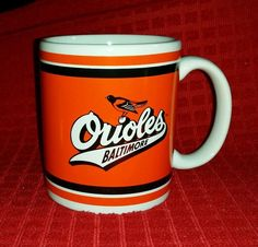 Baltimore Orioles Official MLB Mug Cup Ornithologically Correct Bird Logo 89-97