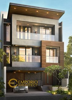 Modern architecture building ELEVATION Motivational Quotes motivational quotes for work How to choos 3 Storey House Design, Duplex House Design, House Front Design, Modern House Design, Villa Design, Facade Design, Exterior Design, Bungalow Haus Design, House Architecture Styles