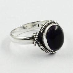 Black Onyx Stone Gota Design 925 Sterling Silver Ring by JaipurSilverIndia on Etsy