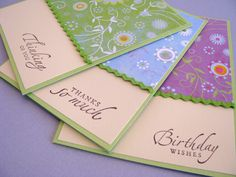 Simple cards- DSP, ribbon and all occasion sentiments