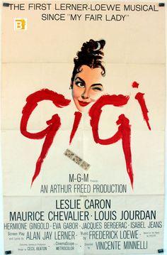 "Gigi | GIGI "" MOVIE POSTER - ""GIGI "" MOVIE POSTER"