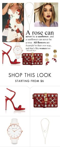 """#50"" by mariangela06 ❤ liked on Polyvore featuring Giuseppe Zanotti, Dolce&Gabbana, Brinley Co, Abbott Lyon, Charlotte Russe, Marni, contest, floral, red and dress"