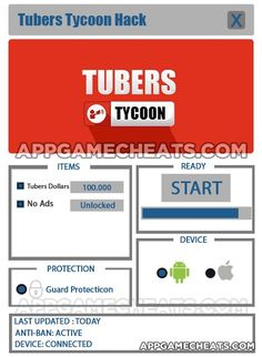 Tubers Tycoon Tips, Hack, & Cheats for Tubers Dollars & No Ads Unlock  #Arcade #Simulation #Strategy #TubersTycoon http://appgamecheats.com/tubers-tycoon-tips-hack-cheats/