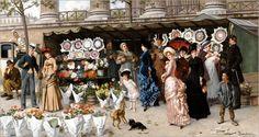 Flower Market At La Madeleine,Paris_Ladislaus Bakalowicz