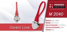 M 2040 Llavero Love (5 fotos) El artículo del día es el M 2040 Llavero Love (INCLUYE CAJA INDIVIDUAL.) Conoce más de él en www.promoopcion.com Material: Hule / Metal Medida: 2.2 x 10 cm  Área de impresión: 1.5 x 0.8 cm Técnica de impresión recomendada: Láser Color: Rojo  CONSULTA EXISTENCIAS Y PRECIOS CON TU EJECUTIVA DE CUENTA.
