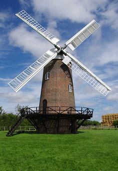 Wilton Windmill in August 2012 taken by Simon Manktelow. The mill is the only working windmill in Wessex and was originally built in 1821 after the new Kennet and Avon canal had been built. Near Marlborough, Wiltshire, England