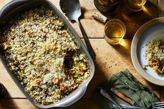 Farro Gratin With Brussels Sprouts recipe on Food52