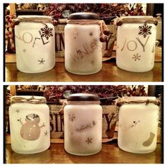 Frosted jars