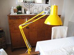 Gul Skrivbordslampa Industrilampa Maxam Lampa Retro 70-tal på Tradera.