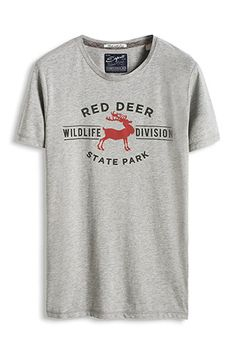www.davidemartini.ink for Esprit / Slub Jersey Print T-Shirt aus Baumwoll Mix