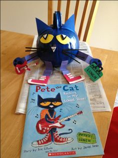Pete the Cat pumpkin