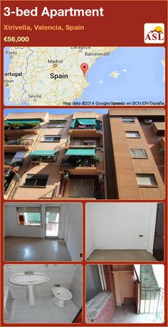 3-bed Apartment in Xirivella, Valencia, Spain ►€56,000 #PropertyForSaleInSpain