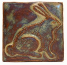 Shop for ceramic handmade Rabbit sculpted art tile, made to your order, all non-toxic glazes, artisan imagined in Kent Ohio by Emu Tile LLC. Handmade Tiles, Handmade Art, Handmade Ceramic, Art Nouveau Tiles, Tile Art, Ceramic Art, 4x4, Art Pieces, Arts And Crafts