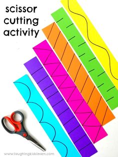 Scissor cutting activity for kids. activities Scissor cutting activity for kids - Laughing Kids Learn Cutting Activities For Kids, Fine Motor Activities For Kids, Motor Skills Activities, Preschool Learning Activities, Preschool At Home, Toddler Learning, Toddler Preschool, Toddler Activities, Childcare Activities