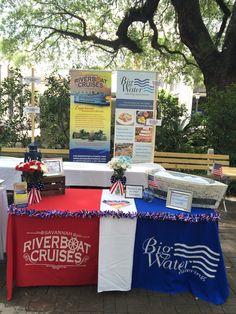 Savannah Riverboat Cruises booth.