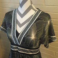 BCBG Max Azaria Geometric Dress with Sash Size Small | eBay