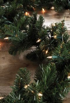 Artificial Noble Pine Garland with 35 Lights 6 feet $9.99 each /  4 for $9 each