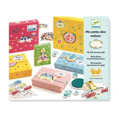 Ce coffret offre tout le nécessaire pour réaliser ses propres papiers cadeaux. Stickers, étiquettes, tampons et pièces silhouettées permettent à l